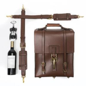 Bespoke Backpack/Messenger Wine Bottle Carrier